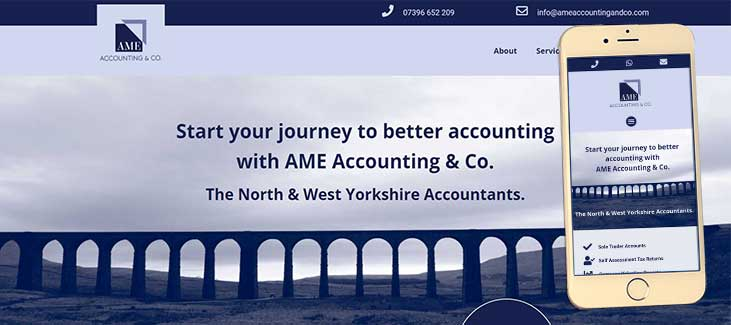 AME Accounting and Co Website Preview