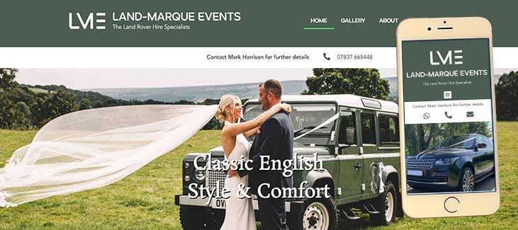 Land Marque-Events Website Preview